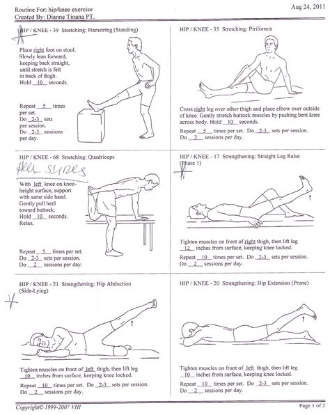 therapy exercises physical therapy hip knee exercises alexcpaul