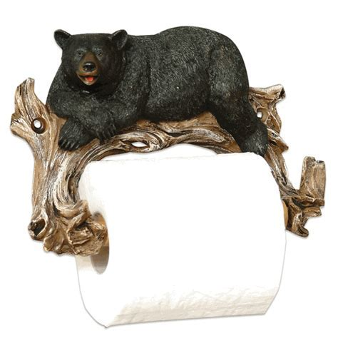 Relaxing Bear Toilet Paper Holder