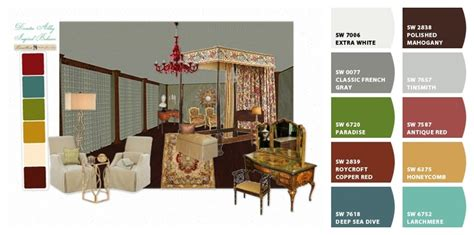 bedroom inspired by downton using olioboard paint colors selected by quot chip it quot by sherwin