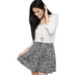black and white pattern skirt outfit deb leopard print skater skirt white pattern where to