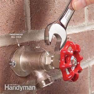 how to repair a noisy outdoor faucet the family handyman