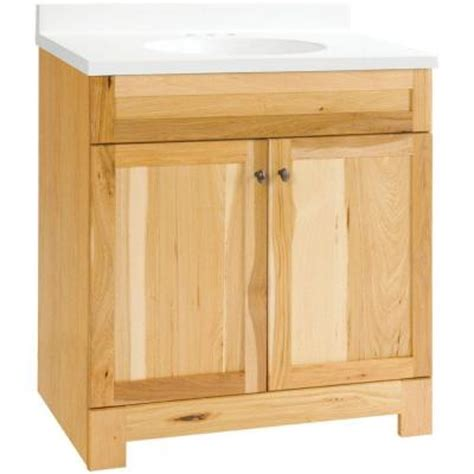 Hickory Vanity by Glacier Bay 30 In Vanity In Hickory With Cultured Marble