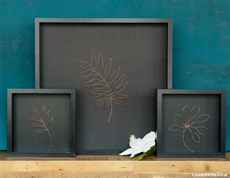 copper wall art home decor botanical copper wall art bigdiyideas com