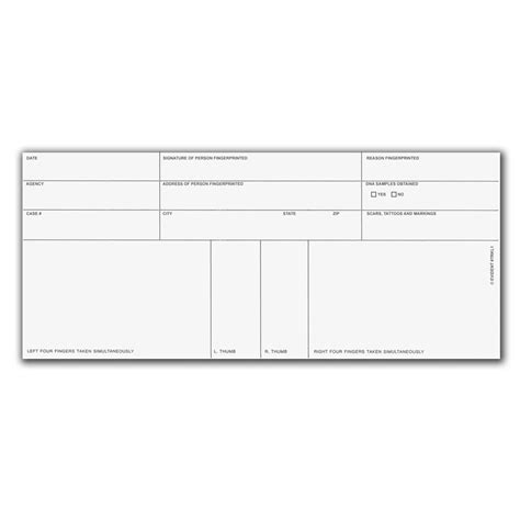 looking for template to fill out fingerprint cards finger print form fill printable fillable blank