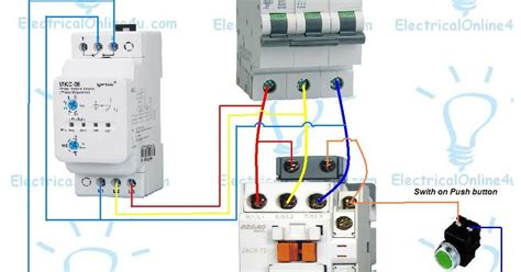 phase failure relay contactor with wiring diagrams
