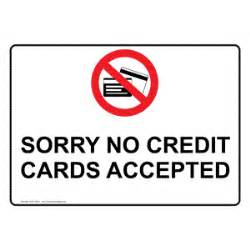 sorry no credit cards accepted symbol sign nhe 15692 payment policies