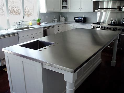 kitchen sink and counter stainless steel countertop custom