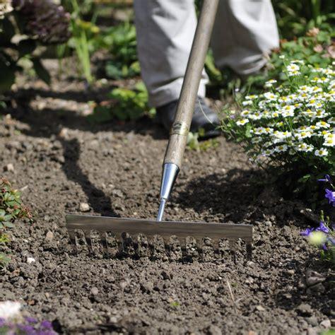 Landscape Soil Rake Joseph Bentley Stainless Steel Fsc Oak Garden Soil Rake 142cm