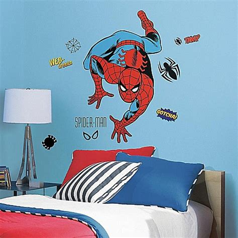 spider man comics character giant wall mural by homewallmurals marvel classic spider man peel and stick giant wall decals