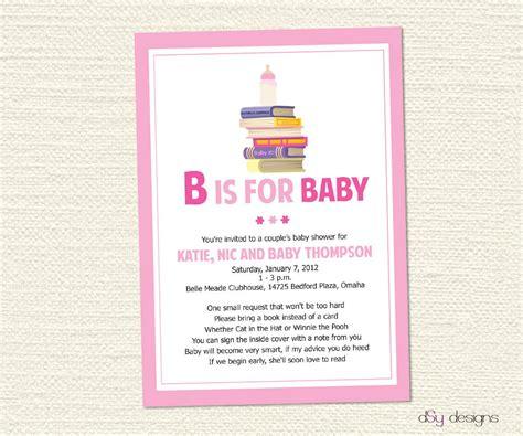 baby shower invitation book poem items similar to book baby shower invitation on etsy