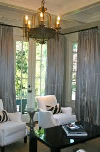 living room dining room draperies