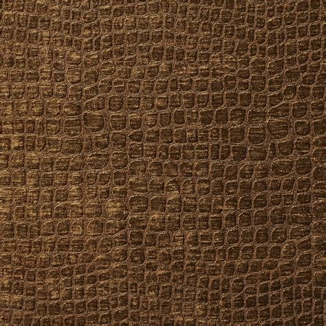 Textured Upholstery Fabric A0151k Brown Textured Alligator Shiny Woven Velvet