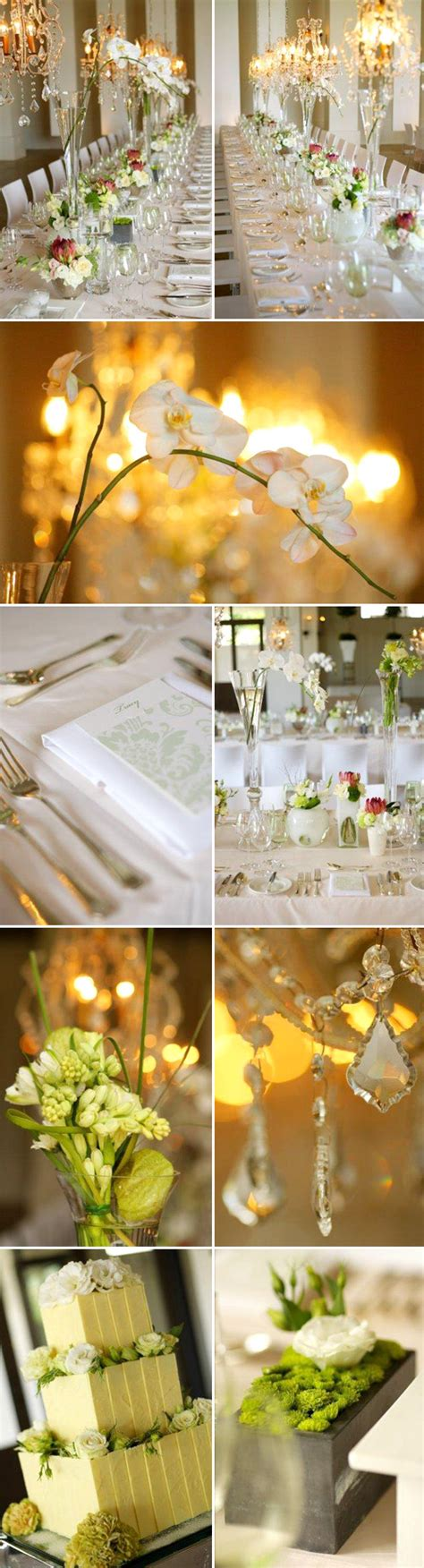 Green Wedding Concept by Green And White Modern Wedding Inspiration From