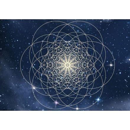 le blume des lebens postkarte mit multidimensionaler blume des lebens