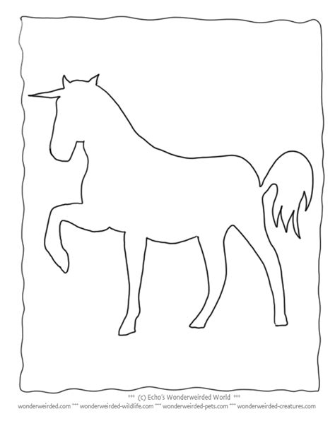 Unicorn Outline by Unicorn Template Www Imgkid The Image Kid Has It