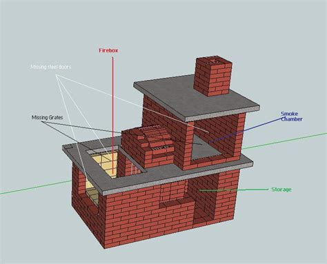 backyard smoker plans brick vector picture brick smoker plans