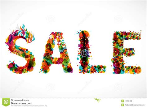 sale funky graphic design stock illustration image 16903402