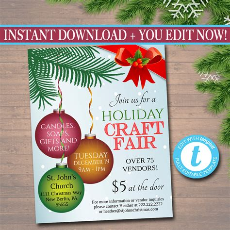 holiday craft shows in illinois editable craft fair flyer craft show