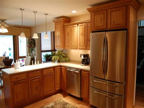 ideas for a small kitchen oak wooden kitchen cabinet for small kitchen remodeling