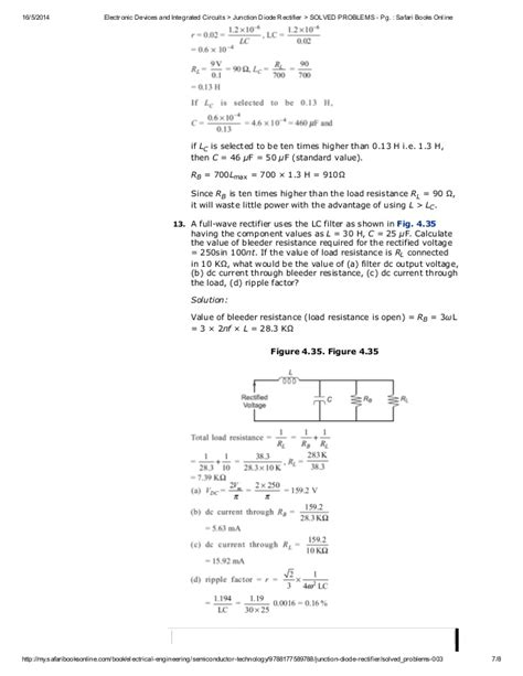 rectifier diode problems solved problems on rectifiers