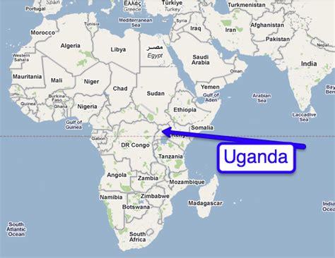 uganda on world map uganda map in world
