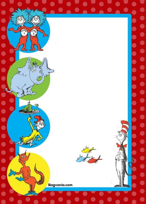 dr seuss post card templates dr seuss birthday invitations printables bagvania free