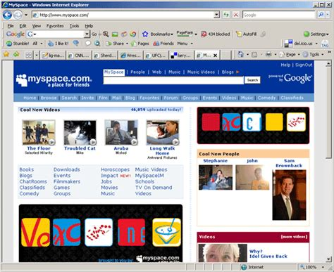xvon image myspace home page