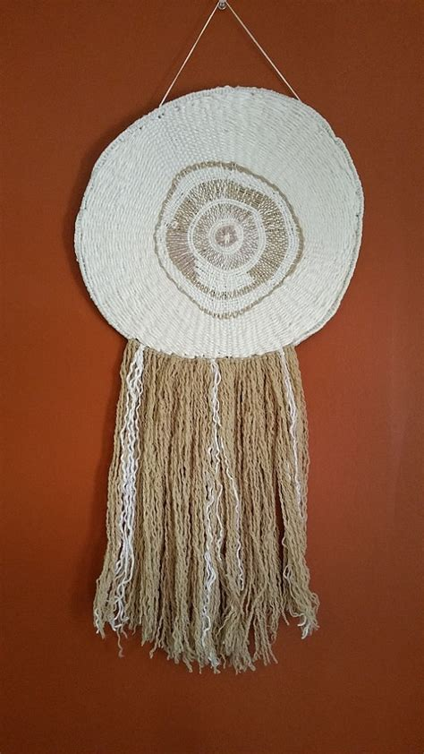 wall hanging handmade weaving woven circle