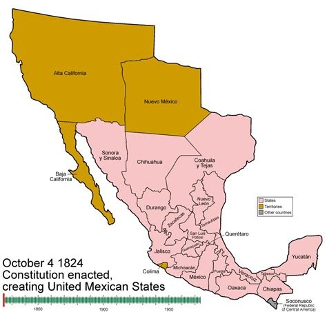 map of us states that belonged to mexico political divisions of mexico the wiki