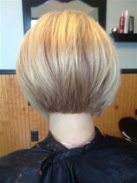 cutting stacked bob lovely color and cut stacked bob by salon m bobs