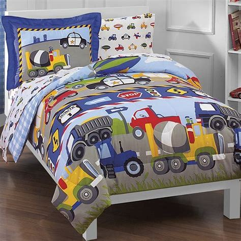 boys twin bedding sets these dream factory trucks tractors cars bedding