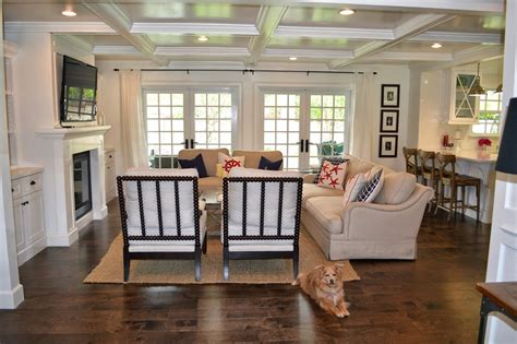 the cape cod ranch renovation great room entry living