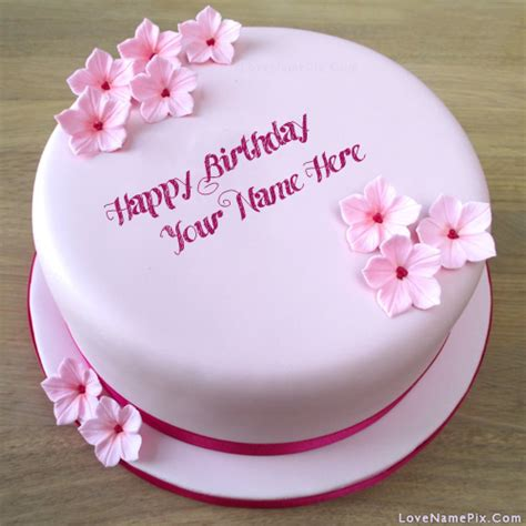 pink girls birthday cake  flowers   photo happy birthday wishes birthday wishes