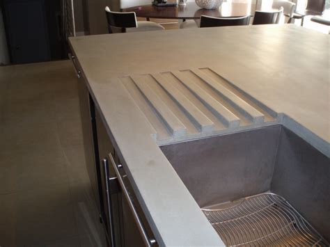 concrete countertop with integrated concrete countertop detail images brooks custom
