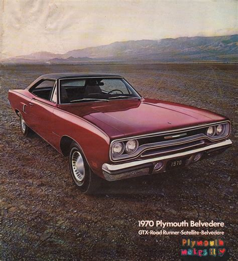 chrysler 1970 plymouth belvedere sales brochure