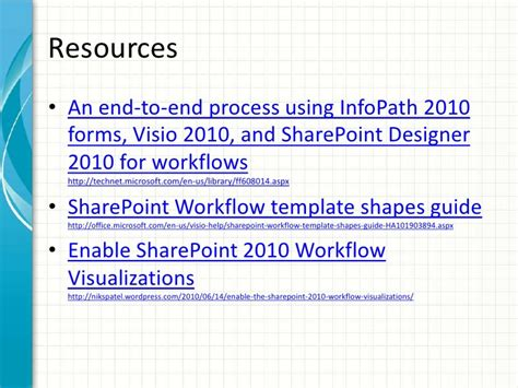 sharepoint 2010 workflow steps visio 2010 sharepoint workflows with demo steps