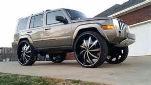 jeep commander on 32 s big rims custom wheels