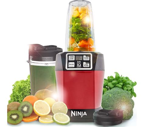 ninja kitchen appliances buy ninja bl480ukmr blender metallic red free delivery