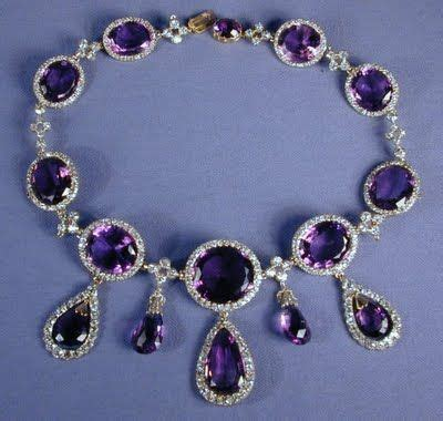 up of the necklace from the kent amethyst parure