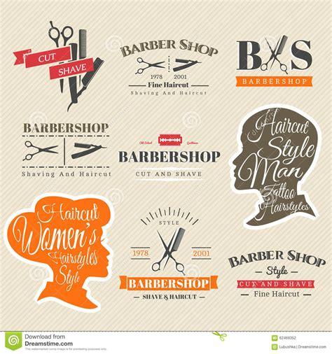 hairdresser retro design elements vector barbershop signs stock vector image 62469352