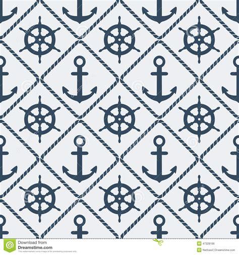 seamless pattern illustrator vector steering wheel and anchor seamless pattern stock vector