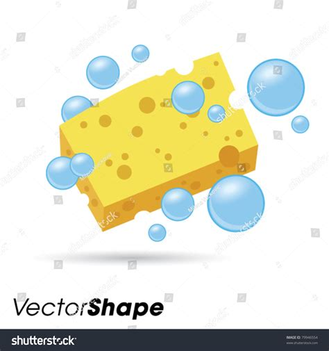 Bathroom Design Tool Free Yellow Wet Sponge Bubbles Vector Illustration Stock Vector