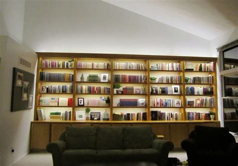 inspired led bookcase lighting modern living room