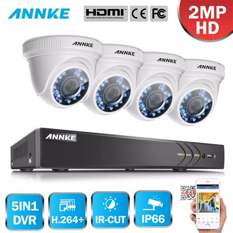 Cctv 4in1 2mp 1080p Hd Jovision annke 1080p hd security system 4ch 1080p hdmi dvr kit with 4pcs 2mp outdoor surveillance