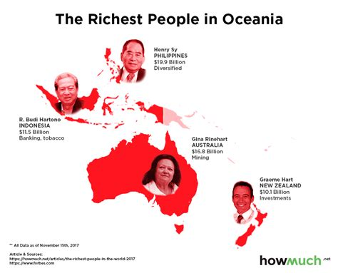 mapping the richest in the world 2017