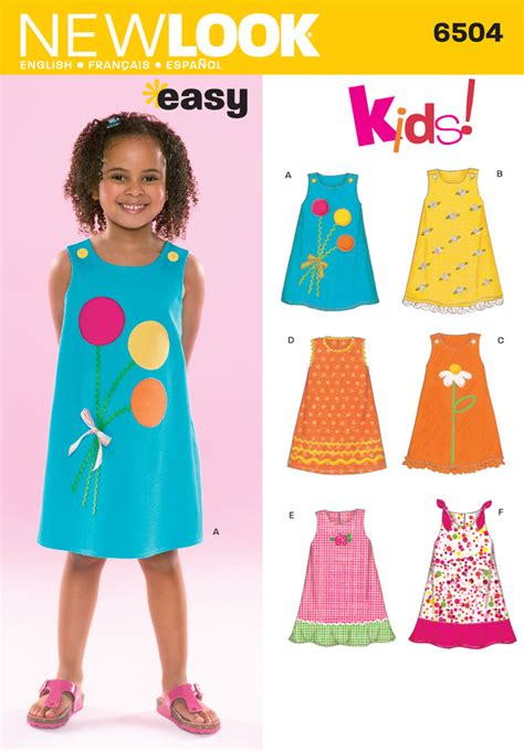 Pattern Dress Child | child dress sewing pattern 6504 new look baby clothes