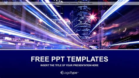 building night in the city business ppt templates