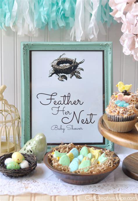 Bird Baby Shower by Feather Nest Bird Baby Shower Creative Juice