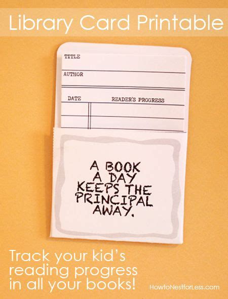 printable library card pin by how to nest for less on fun family projects by