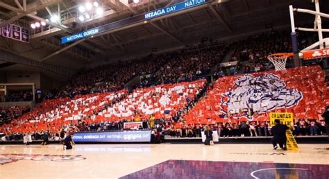 naismith student section of the year gonzaga s student section finalist for national award